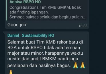 Rekor Baru Departement Sustainabillity Area 1 Region Mentaya