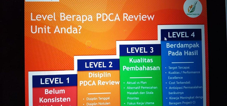 Level Berapa PDCA Review Anda...