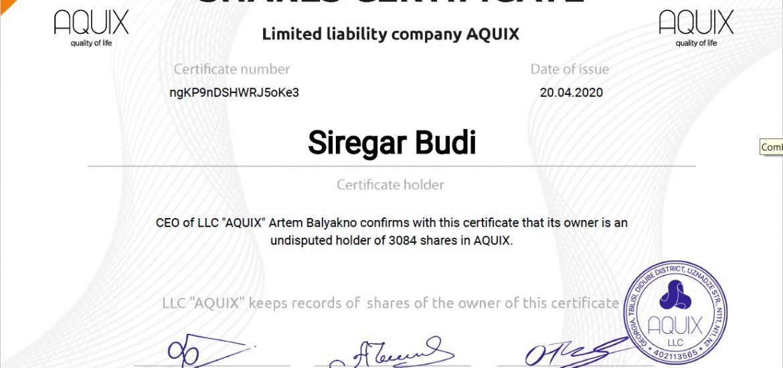 Kesempatan BerInvestasi di AQUIX Indonesia