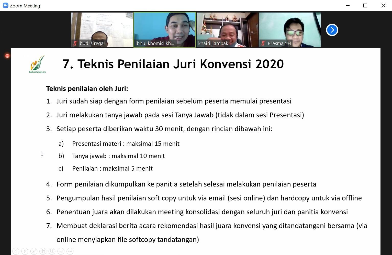 20. Teknis Penilaian Juri Konvensi 2020