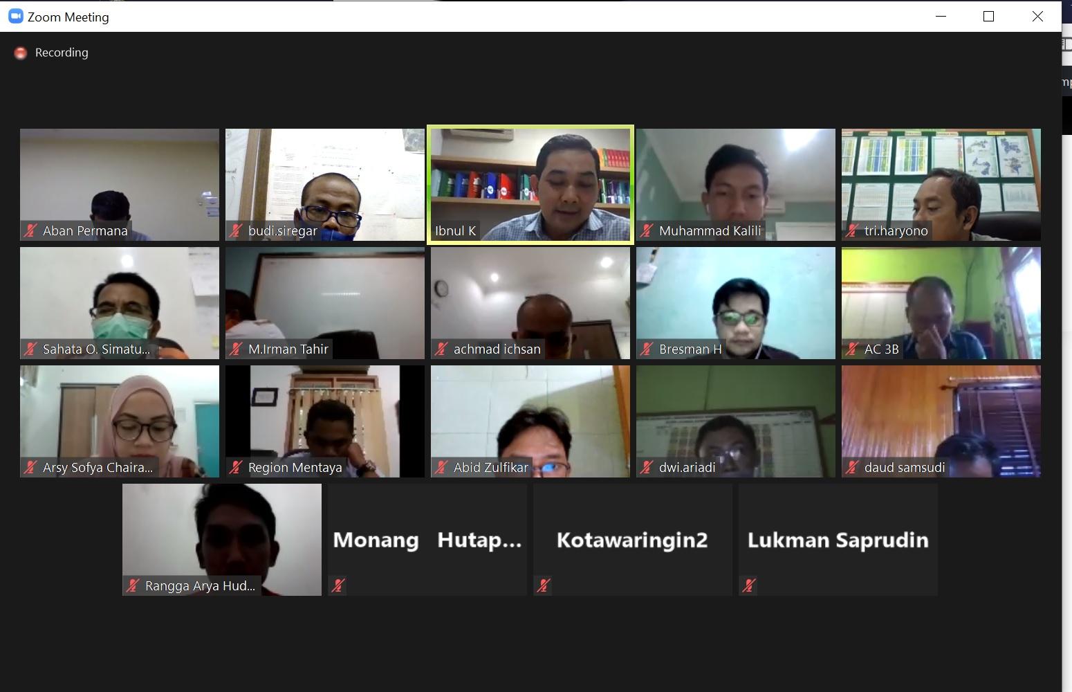 Peserta Zoom Meeting Sosialisasi CI dan Inovasi 2021