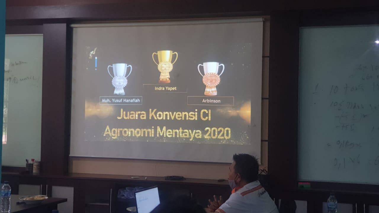 Juara Konvensi CI Agronomi 2020 Regional Mentaya