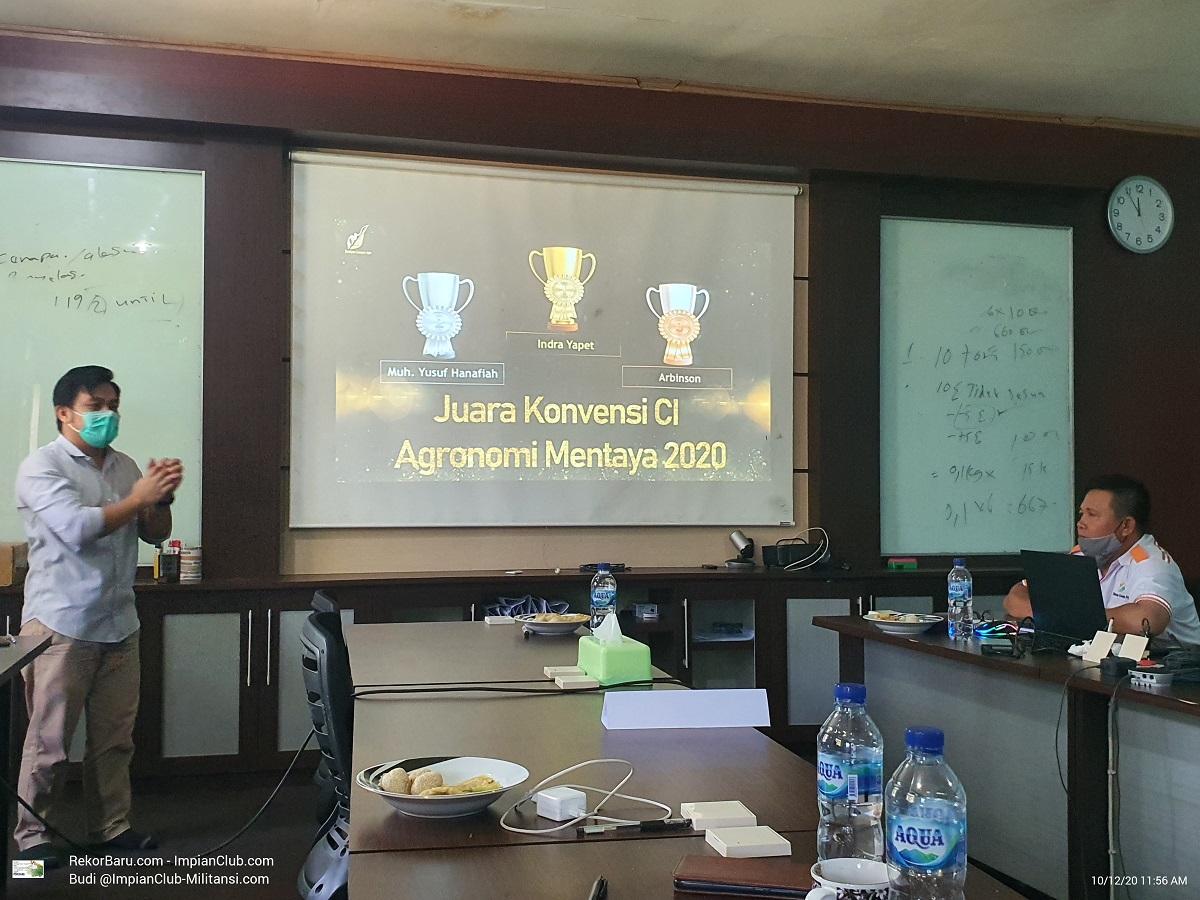Peraih Medali Emas, Perak dan Perunggu - Peserta CI 2020 Agronomi Region Mentaya