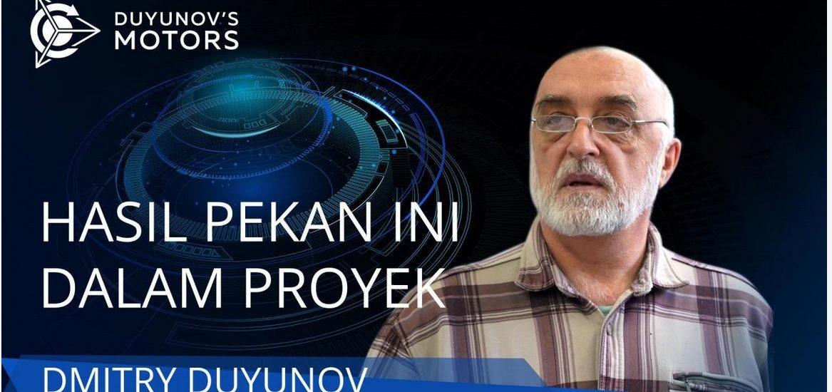 SolarGroup : Ringkasan hasil minggu ini dalam proyek Duyunov Motors (29.11.2020)