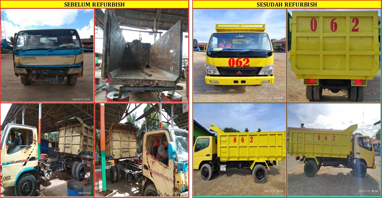 CMNT : Traksi Pertama di BGA untuk meRefurbish Unit Dump Truck