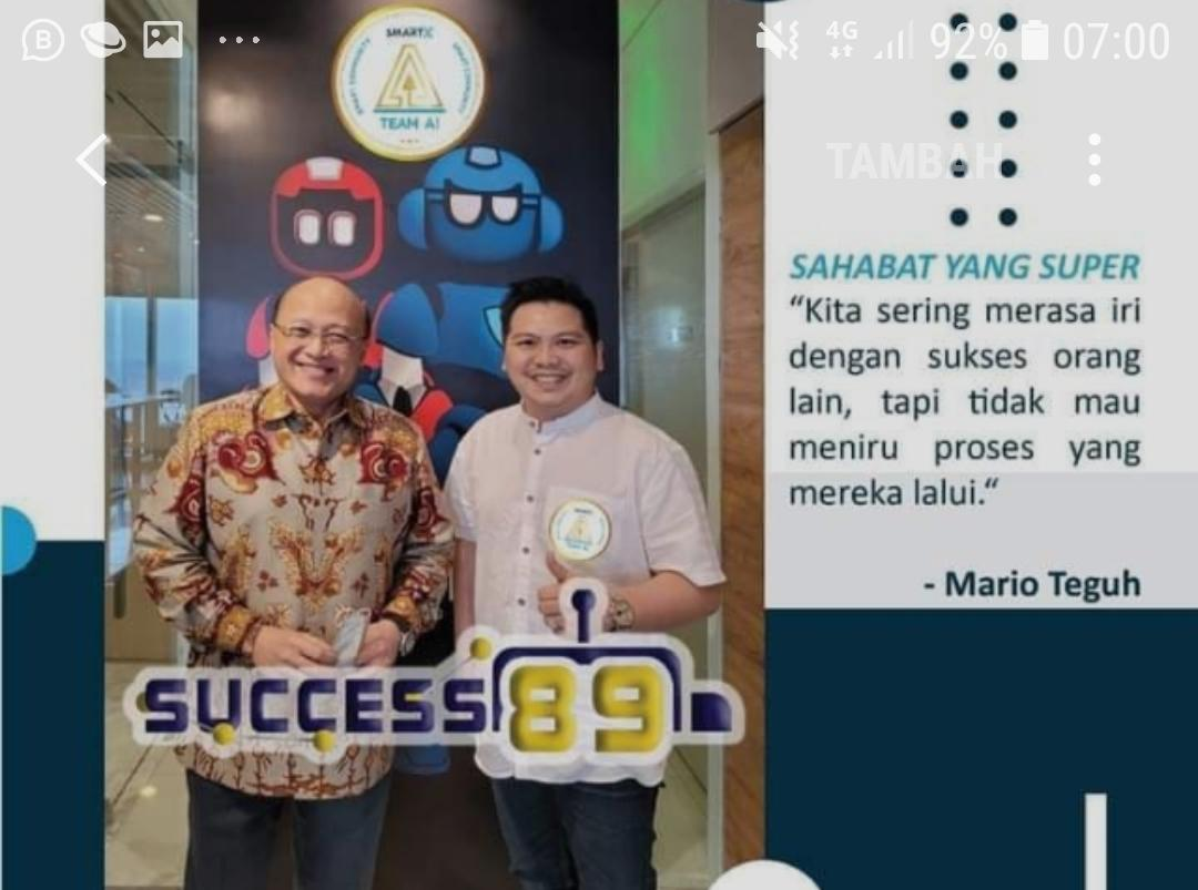 Mario Teguh, juga join di Net89