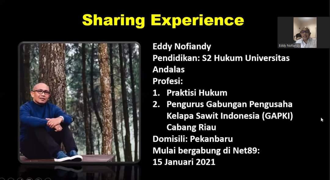 Sharing Experience Eddy Nofiandy